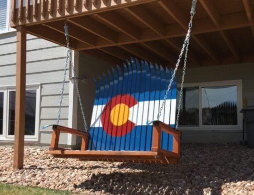 Ski Swing, State Flag, Colorado Flag Swing