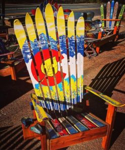 Aspen Colorado Flag Ski Chair