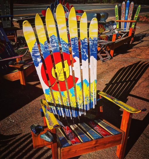 Aspen Colorado Flag Ski Chair