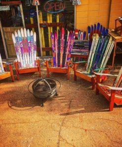 Unpainted Adirondack Ski Chairs