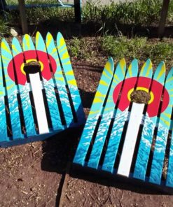 Colorado Flag Sun Burst Corn Hole Ski Boards