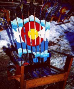 Colorado Flag Adirondack Ski Chair - Bears