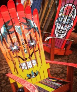 Hand painted sugar skull adirondack chair
