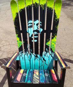 Jimi Hendrix Adirondack Ski Chair