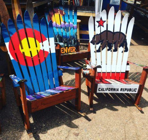 Colorado, Denver & California Rocking Ski Chairs
