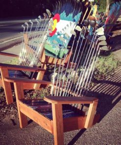 Repurposed Adirondack Golf Chair
