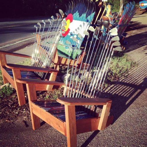 Repurposed Adirondack Golf Chair