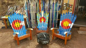 Colorado Flag Adirondack Ski Chairs