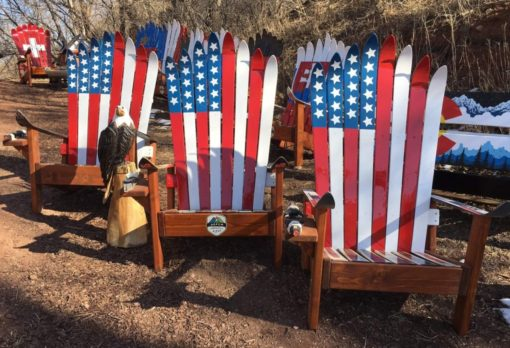 USA Flag Ski Chairs