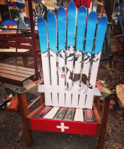 Swiss Mountain Rescue Dog Adirondack Ski Chair