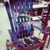 Dark Side of the Moon Pink Floyd themed Adirondack Ski Chair
