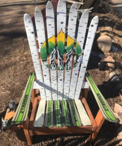 Colorado Aspen Leaf Springtime Mural Ski Chair