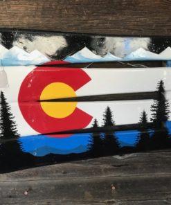 Colorado Mountain Mural Ski Wall Art