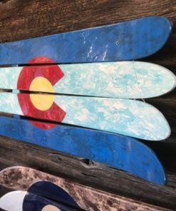 Colorado Marbled Ski Wall Flag