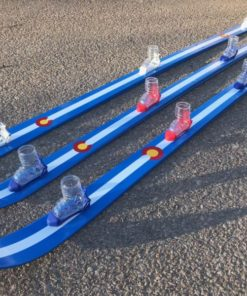 CO flag hand painted shot skis