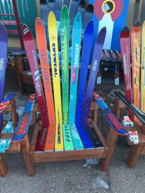 Adirondack Ski Chair with Rainbow Colors
