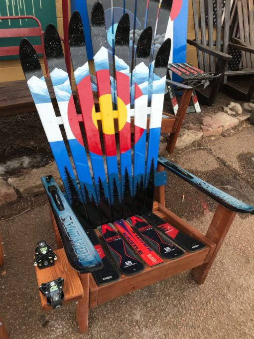 Colorado Mountain Mural w/ Night Sky Ski Chair