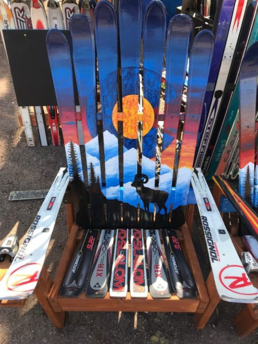 Colorado Sunset Bighorn Mural Ski Chair