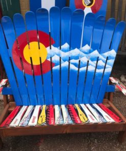 Colorado Mountain Adirondack Ski Bench