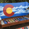 Colorado Mountain Stencil Adirondack Snowboard Bench