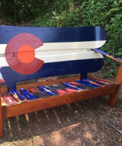 Colorado Orange Moon Snowboard Bench