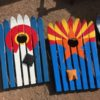 CO & AZ Flags Ski Cornhole Sets