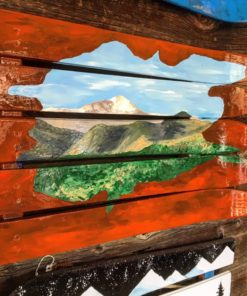 Garden of the Gods & Pikes Peak Hand Painted Ski Wall Art