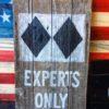 Experts Only Double Black Diamond Barnwood Wall art