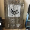 Ski Tips Up Barnwood Wall art