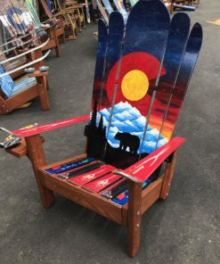 Colorado Bear Mountain Mural Hybrid Ski & Snowboard Adirondack Chair