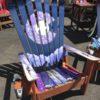 Marbled Purple Colorado Flag Mama Fox & Cub & Moon Adirondack Ski Chair