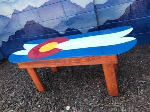 Colorado Flag Snowboard Coffee Table