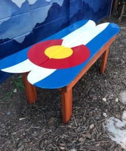 Colorado Flag Snowboard Coffee Table