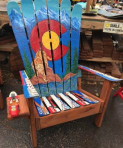 Colorado Mountain Lion Mural Adirondack Ski Chair