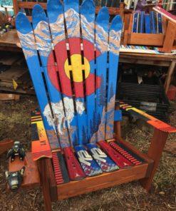 Colorado Mountain Goat Mural Adirondack Ski Chair