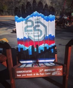 UFC Pepsi Center Custom Colorado Denver Skyline Adirondack Ski Chair