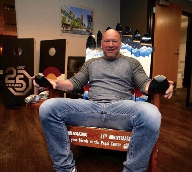 UFC Pepsi Center Custom Colorado Denver Skyline Adirondack Ski Chair