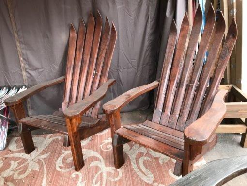 Antique Ski Chairs