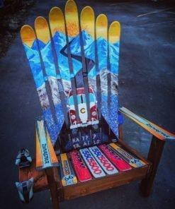 Colorado BMW Mountain Mural Ski Chair