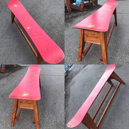 Single Snowboard Bench/ Coffee Table