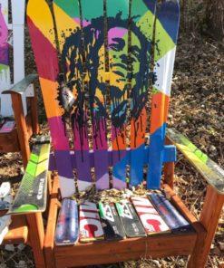 Bob Marley Adirondack Ski Chair