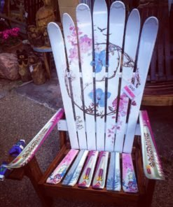 Yin/Yang Flowers Adirondack Chair