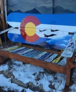 USAF Air Force Fighter Jets Themed Adirondack Snowboard Bench