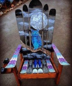 Night Sky Owl Adirondack Ski Chair