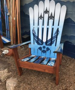 USAF Air Force Fighter Jets Themed Adirondack Ski Chair