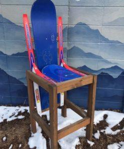 Hybrid Ski & Snowboard Bar Stool