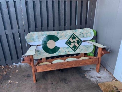4th ID - 4th Infantry Division - Colorado Camo Snowboard Bench