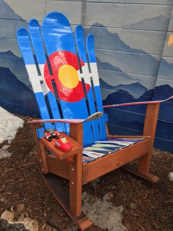 Colorado Flag Adirondack Hybrid Ski & Snowboard Chair