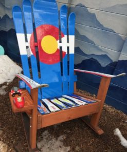 Colorado Flag Adirondack Hybrid Ski & Snowboard Chair
