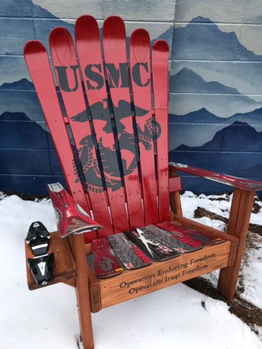 USMC Marines adirondack ski chair